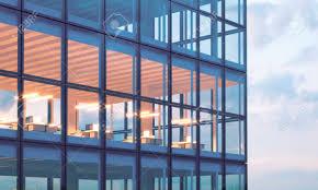 tour de bureau photo de la tour de gratte ciel bureau à un étage supérieur