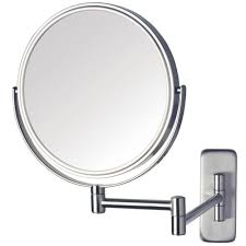 Frameless Molten Wall Mirror by Wall Mounted Magnifying Mirror Polished Nickel Http Drrw Us
