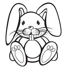 bunny rabbit clipart black and white clipartxtras