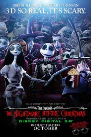 tb071 the nightmare before christmas american movie poster 3 d