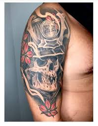 japanese skull by lorenzo lopez tattoonow