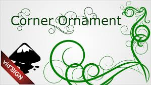 how to design ornament corner using inkscape