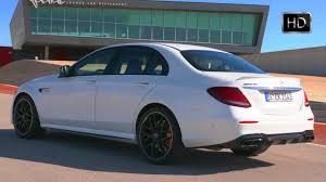 2018 mercedes amg e 63 s 4matic sedan white exterior u0026 interior