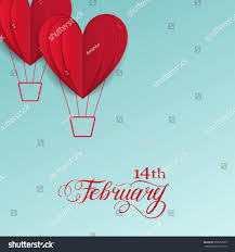 cut paper red valentine hearts abstract stock vector 569557969