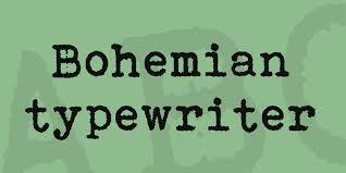 bohemian typewriter font 1001 fonts