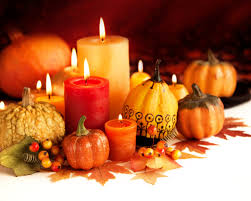 25 scented candles for thanksgiving