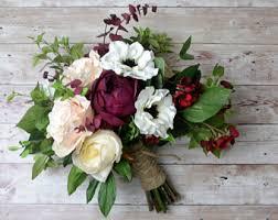 silk flowers for weddings boho bouquet silk flower bouquet wedding bouquet bridal