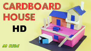 How To Make Blueprints For A House How To Make Cardboard House Easy Craft For Kids Mosquitoeskids