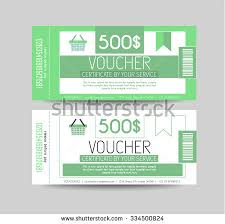 tickets gift card voucher gift card layout template your stock illustration