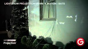 lightshow projection whirl a motion bats youtube