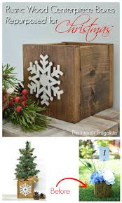 rustic wood centerpiece boxes repurposed for christmas the