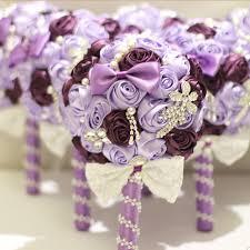 silk bridal bouquet light purple brooch bouquet silk bridal wedding bouquet