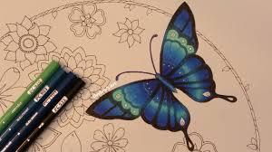 how i color a butterfly magical jungle by johanna basford youtube