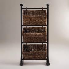 bathroom bathroom towel storage basket with traditional rattan