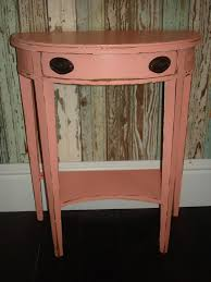 furniture small half round painted foyer table with drawer and