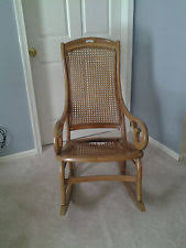 Cane Rocking Chair Bentwood Rocking Chairs Antique Furniture Ebay