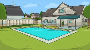 house with pool a suburban house with swimming pool background clipart