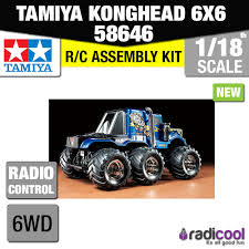 new 58646 tamiya konghead 6x6 g6 01 1 18th scale r c radio