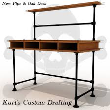 Pipe Desk Extra Thick Pipe Reclaimed Wood Desk Industrial Desk by See More Industrial Pipe Desks At Http Www Simplifiedbuilding