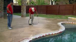 Tiling A Concrete Patio by Patio Cement Patio Tiles With Characteristic Brown Concrete Tiles