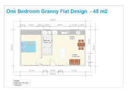 one bedroom granny flat floor plan designed in sydney great pin