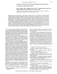 3004 10152 104 st nw a new force field for molecular mechanical simulation of nucleic