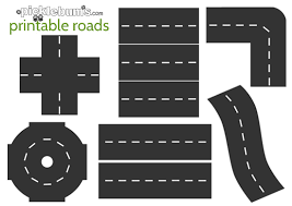 4 images printable road template free printable roads