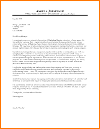 11 marketing manager cover letter informal letters