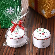 2018 santa tree snowman shape cupcake towel white in