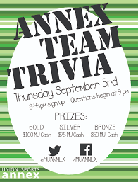 thanksgiving trivia games union sports annex alumni memorial union marquette university