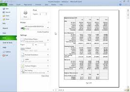 how to print particular parts of an excel 2010 workbook dummies