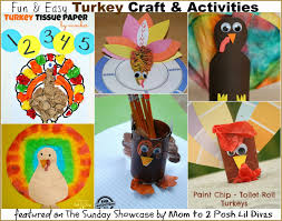mom to 2 posh lil divas fun kids turkey crafts and activities