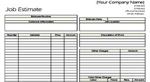 Estimate Sheet Template Contractor Estimate 10 Estimate Templates Excel Pdf Formats