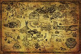 legend of zelda world map poster amazon com pyramid america legend of zelda map video game poster