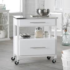 Kitchen Island Stainless Steel by The Classical White Kitchen Island Cart Modern Kitchen Island