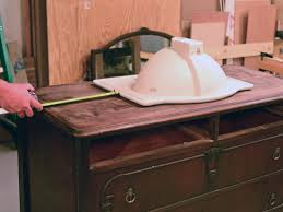 How To Measure For Kitchen Sink by Turn A Vintage Dresser Into A Bathroom Vanity Hgtv