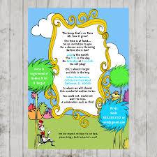 seuss lorax baby shower printable invitation design