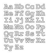 upper case letters lower case letters numbers calligraphy