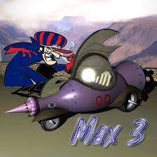 wacky races wacky races 3d model racing car mean machine 00 3d model max