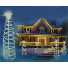 Outdoor Christmas Tree Yard Decorations by 6 U0027 Clear Lighted Outdoor Spiral Christmas Tree Yard Art Decoration