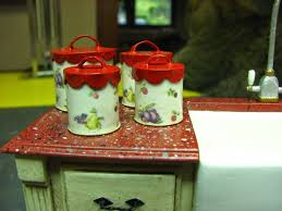 Vintage Kitchen Canisters Dollhouse Miniature Furniture Tutorials 1 Inch Minis 1 Inch