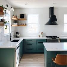 white kitchen cabinets with green countertops 25 green and white kitchen décor ideas digsdigs