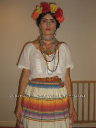 easy homemade frida kahlo halloween costume frida kahlo