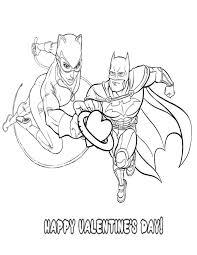 batman catwoman valentine heart coloring u0026 coloring pages