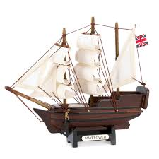 mini mayflower ship model historical figurine collectible nautical
