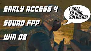 pubg early access pubg early access 4 squads fpp win 08 full game