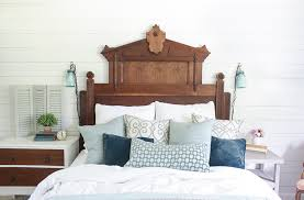 Eastlake Bedroom Set Rustic Eastlake Headboard In Master Bedroom