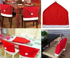 Santa Chair Covers Claus Hat Chair Covers