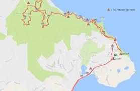 Marathon Route Map by Maps Marin County Half Marathon