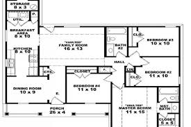 4 bedroom open floor plans 5 one story 4 bedroom house plans single story open floor 12